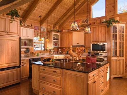 Log Cabin Kitchen Design Ideas Rustic Log Cabin Kitchen Cabinets