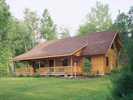 Log Style House Plans Ranch Log Cabin Plans