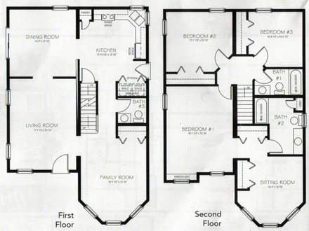 Master Bedroom Two-Story Deck 4 Bedroom 2 Story House Plans