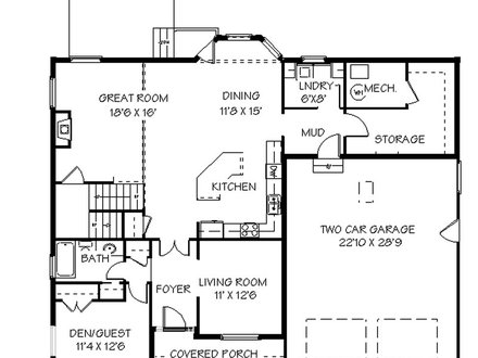 Modern 2 Story House Plans 2 Story House Plans