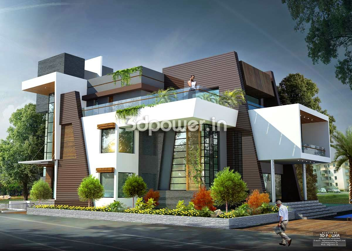 Modern bungalow house design india small lot modern house for Modern house design small lot