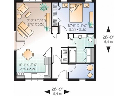 One Bedroom Cottage House Plans One Bedroom House Designs