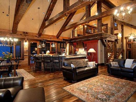 Open Floor Plans Craftsman Style Rustic Open Floor Plans with Loft