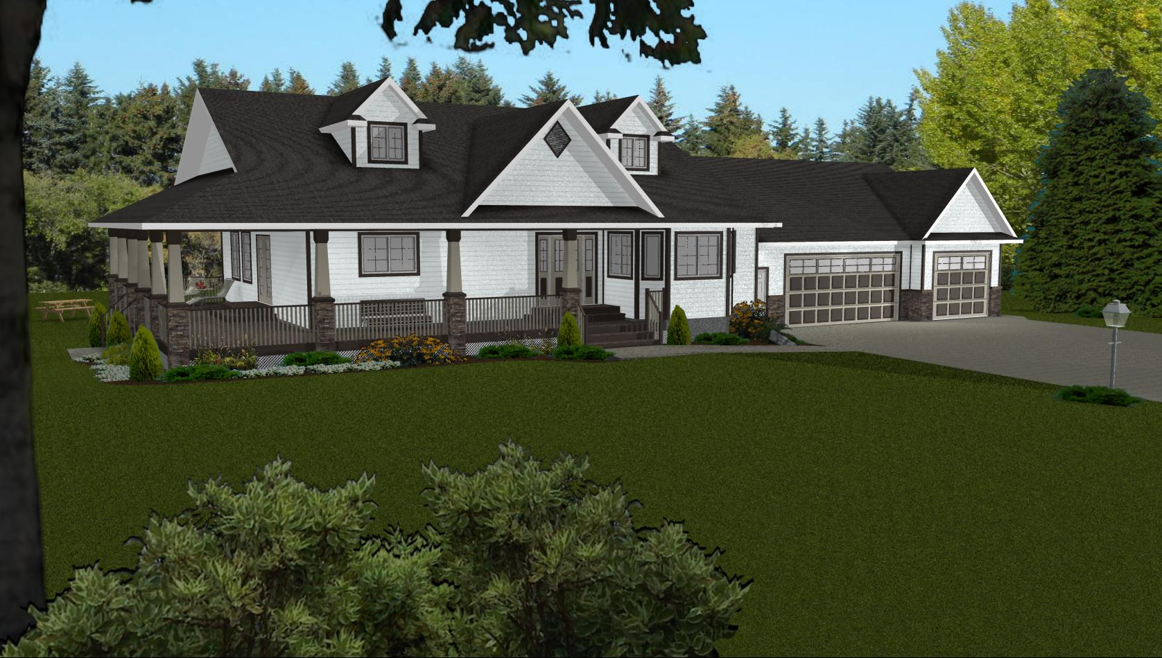 Ranch house plans with walkout basement ranch house plans for House plans walkout basement wrap around porch