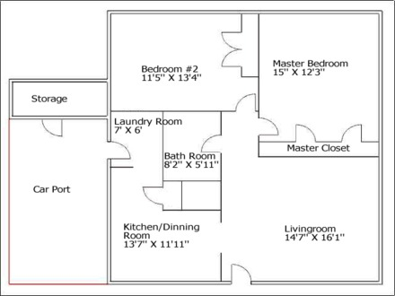 Rental House Floor Plans 2 Bedroom House Floor Plans