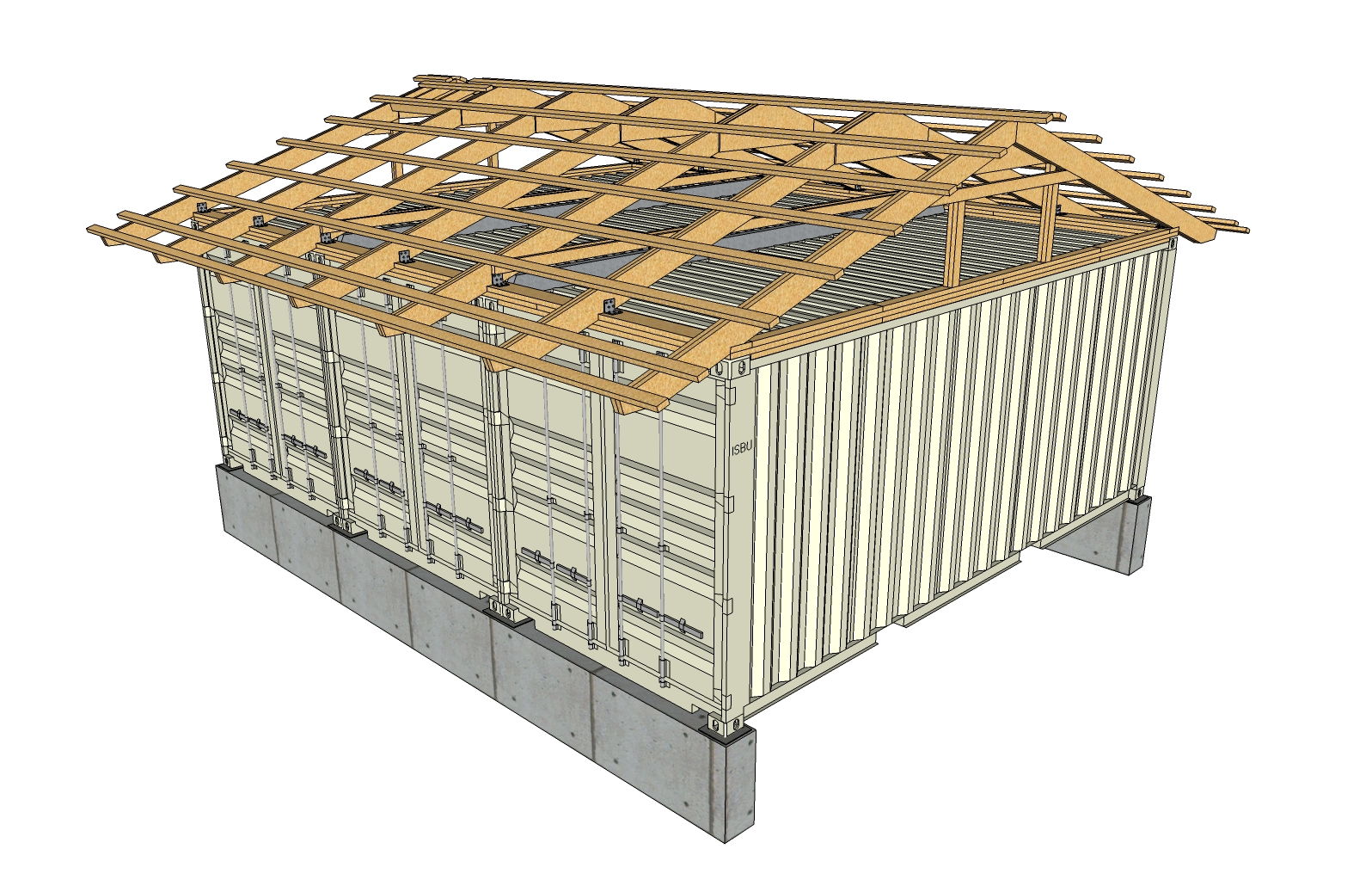 Shed roof framing diagrams shed roof framing plan shed for Shed roof cabin plans