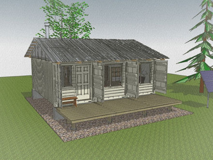 Hunting Cabins On Piers Log Cabin On Piers Building A Hunting Cabin