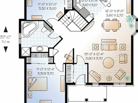 Small two bedroom house plans small affordable house plans for Simple 5 bedroom house plans