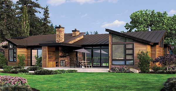 Simple One Story Houses Single Story Contemporary House Plans