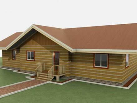 Single Level Ranch Style Log Homes Ranch Style House Plans with Porches