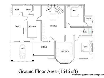 House plans designs india traditional house plans for Single story duplex plans