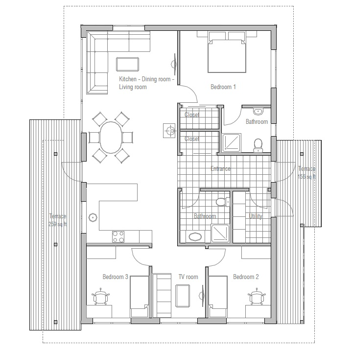 Tiny Houses Little Lots Floor Plans For Very Small: Small Affordable House Plans Very Small House Plans, Micro