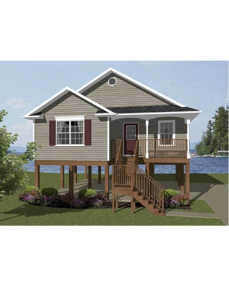 Small beach house plans beach house plans on pilings for Small vacation home floor plans