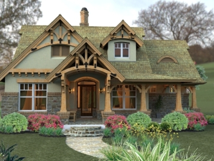 Small Craftsman Cottage House Plans Small Cottage in the Woods