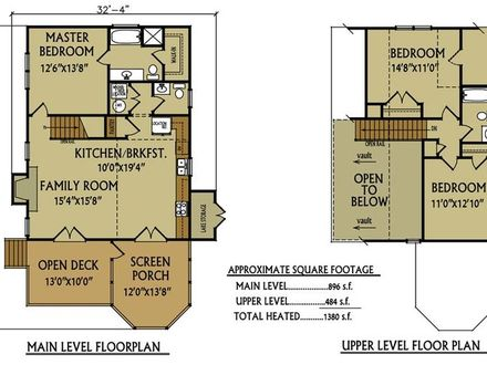 Small Lake Cabin Floor Plans Small Cabin Floor Plans