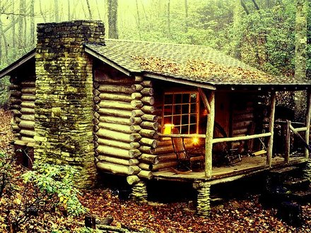 Small Rustic Log Cabin in the Woods Historic Log Cabins