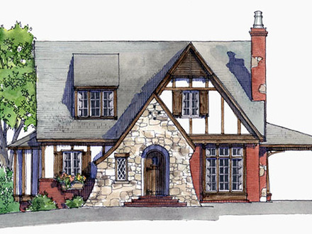 Small Tudor Cottage House Plans Tiny House Plans Storybook Cottage