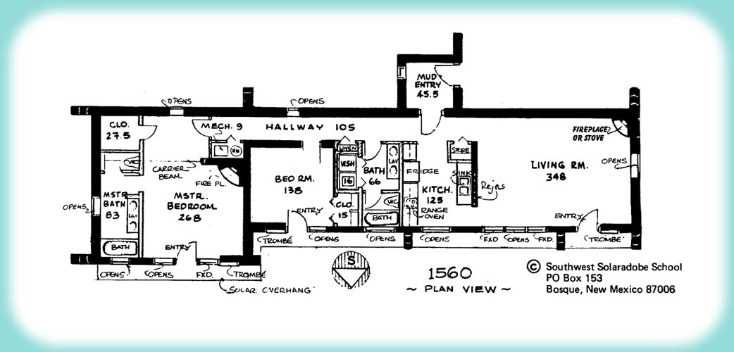 South West Adobe Style House Plans Adobe House Floor Plan