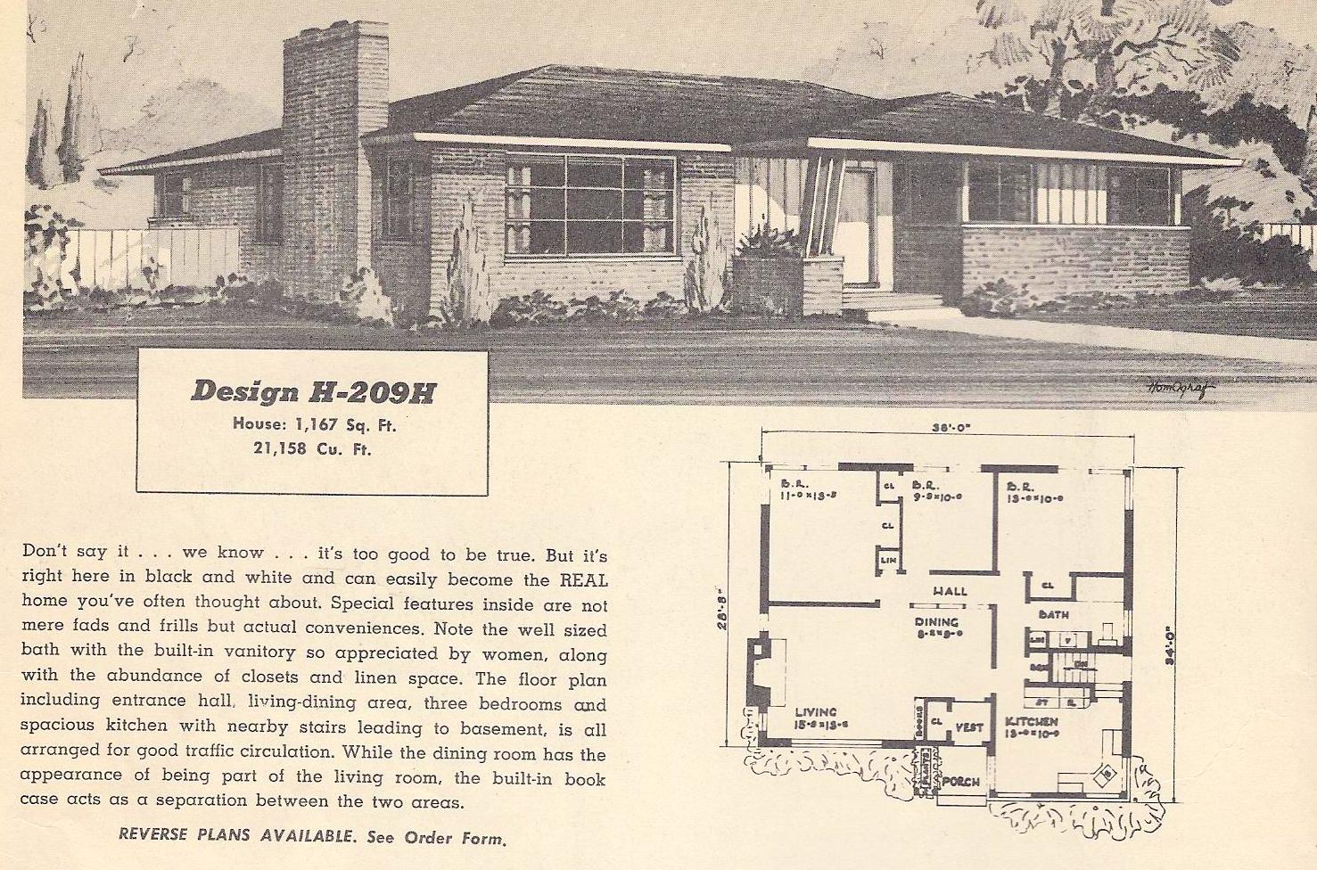 Split level house plans vintage ranch house plans vintage for Split ranch house plans
