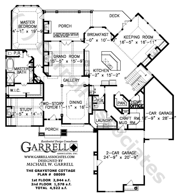 Stone cottage homes stone cottage house floor plans for Custom cottage house plans