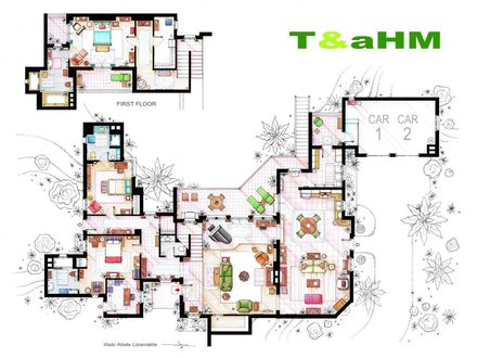 Two and a Half Wrestlers Two and a Half Men Floor Plans