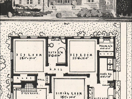 1916 California Bungalow Floor Plan Ranch-Style House