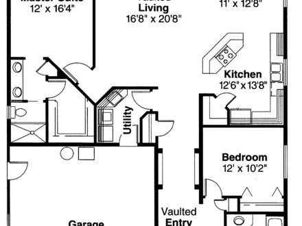 2 Bedroom Bungalow House Plans 2 Bedroom House Simple Plan