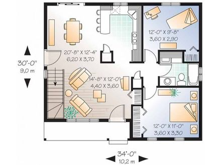 2 Bedroom House Simple Plan 2 Bedroom House Plans Designs