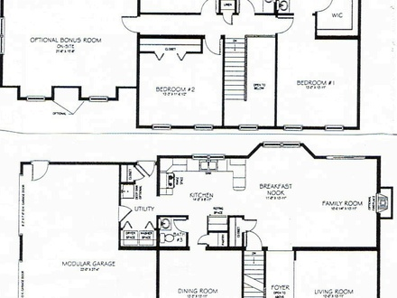 2 Story 3 Bedroom House Plans Long Lots Blueprints 3 Bedroom 1 Story
