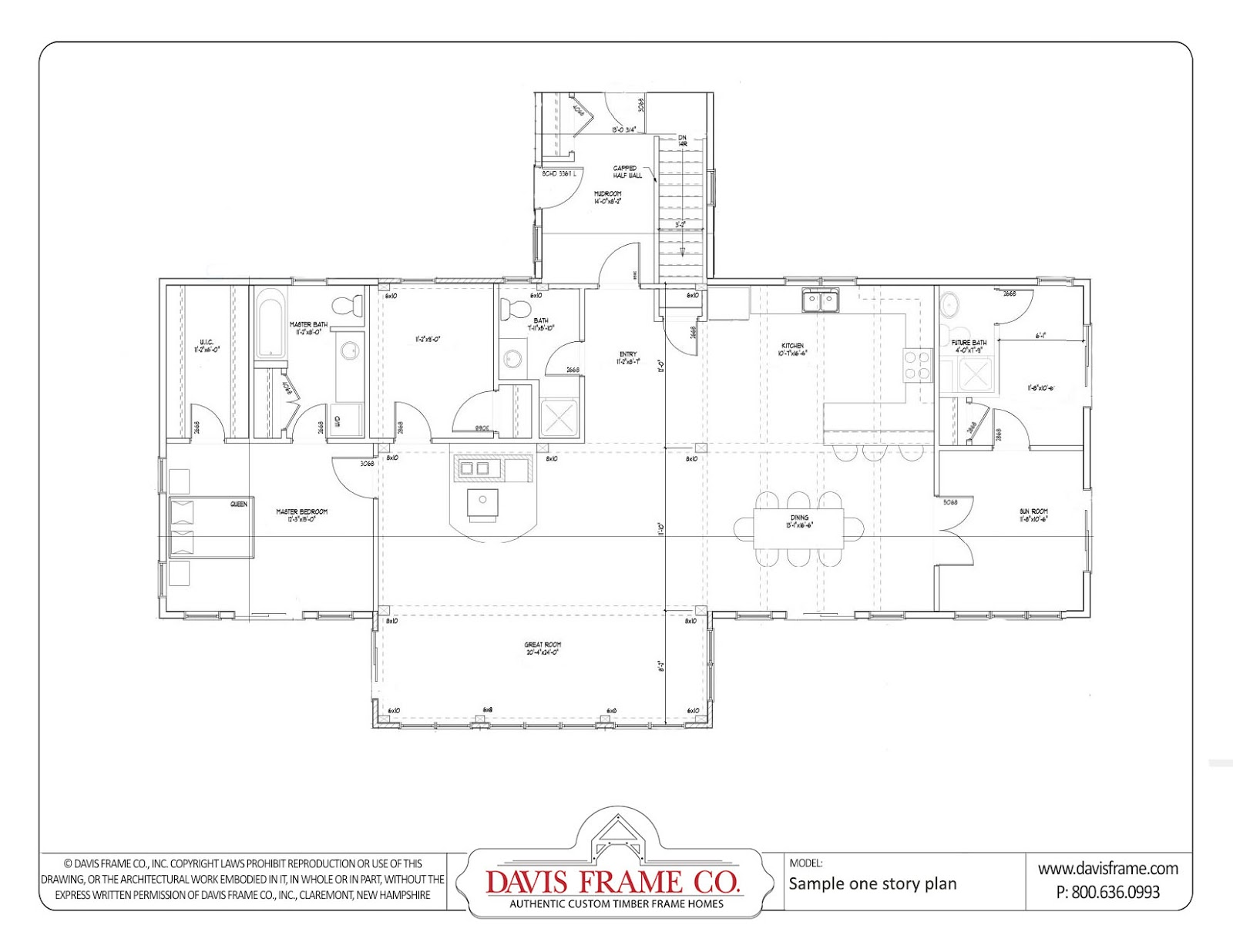 2 story timber frame house floor plans timber frame for Ranch timber frame plans