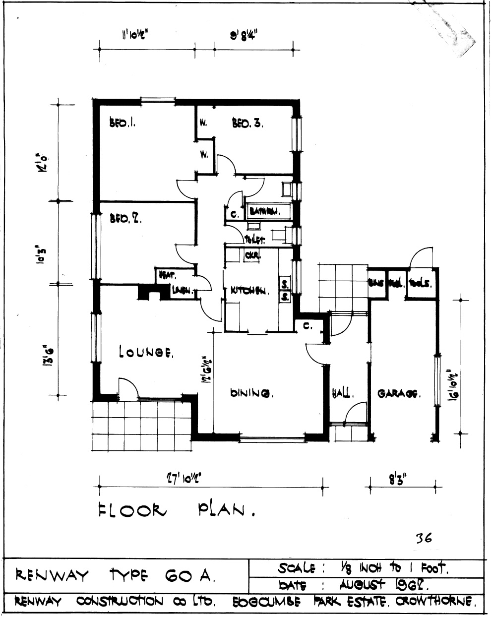 3 bedroom house plans bungalow house plan architectural for 3 bedroom architectural designs