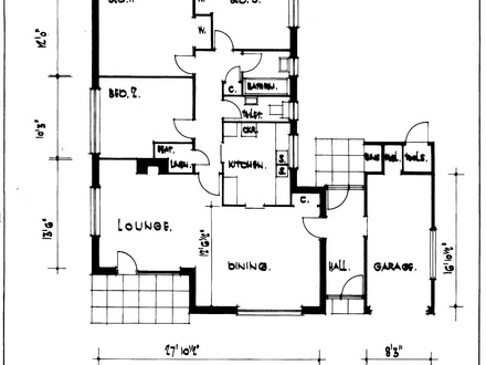 3 Bedroom House Plans Bungalow House Plan Architectural Designs