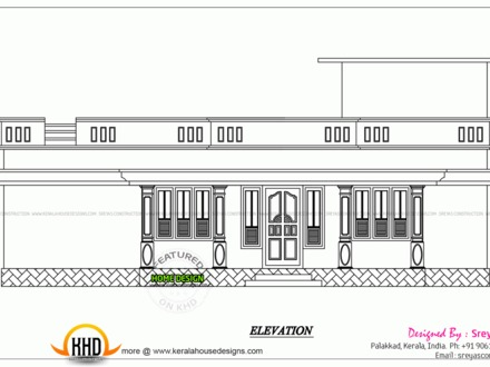 3D Elevation of House Small House Elevation Drawing
