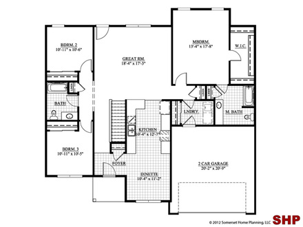4-Bedroom Ranch House Plans Ranch House Plans No Garage