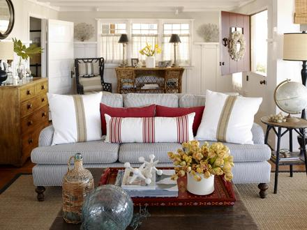 Beach Cottage Living Room Decor Cottage Chic Living Rooms