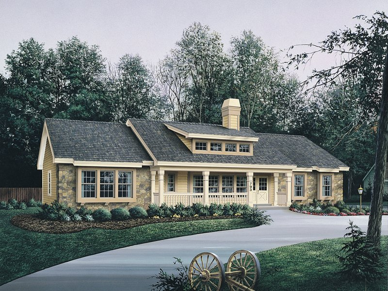 Bungalow Front Porch with House Plans Bungalow House Plans with Garage
