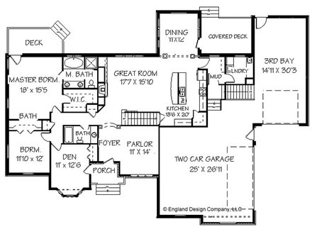 Bungalow House Ranch Style House Floor Plan Design