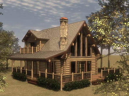 Small cottage house with porch prefab cottage small houses - Bamboo house design and floor plan ...