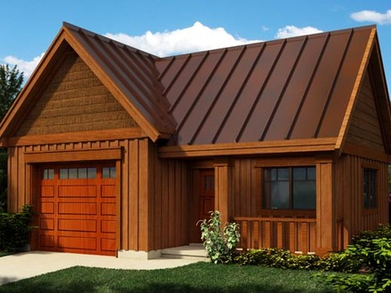 Garages converted into homes log home detached garage log for Log garage designs