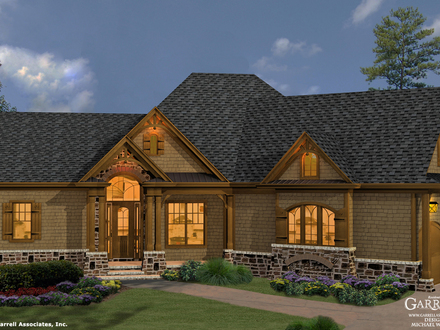 Craftsman\'s Carriage House Mountain Craftsman Style House Plans