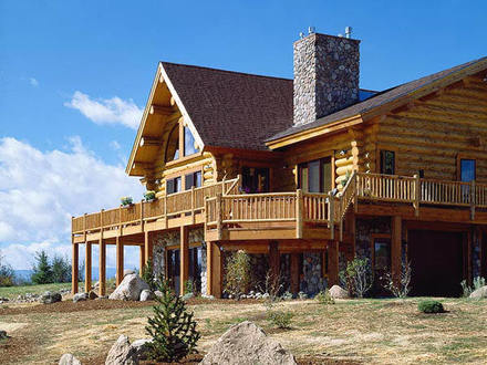 Custom Log Homes Montana Log Home