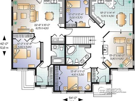 Duplex House Plans Multi Family House Plans