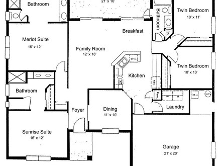 Home Floor Plan Floor Plans for Ranch Homes