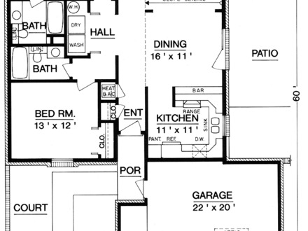 House Floor Plans for 1200 Square Foot 1200 Square Foot House Plans