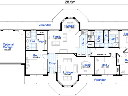 House Floor Plans with Dimensions Builder House Plans