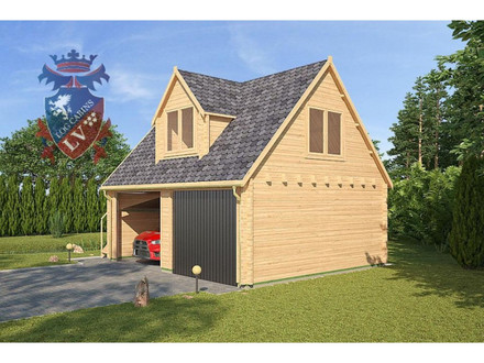 Log cabin kits 50 off prefab hunting cabins garage for Log home garage kits
