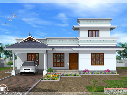 Kerala Single Floor House Designs Modern Tiny House Floor Plans