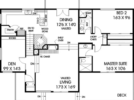 Bay house floor plans luxury lake house plans bay house for Executive ranch floor plans