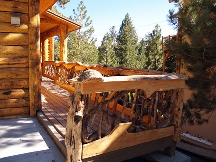 Log Cabin Deck Railing Cabin Railing Ideas