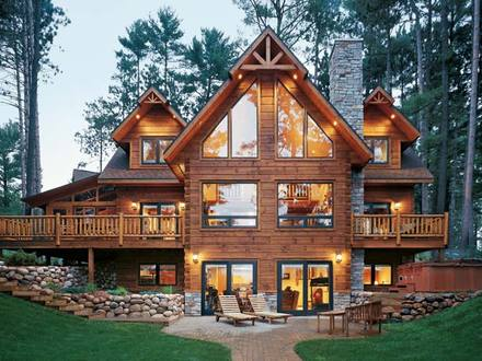 Log Cabin Style Mobile Homes Log Cabin Style Home